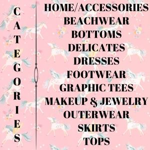 ❤ Categories in My Closet ❤